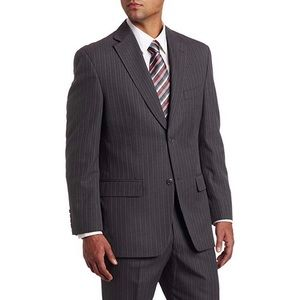 Haggar Charcoal Pinstripe Classic Fit Suit Jacket